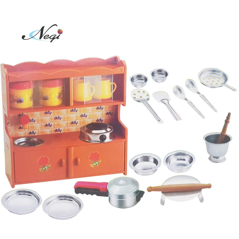 Negi 20pcs Mini Stainless Steel Utensils Non Toxic Indian Kitchen Set With Modular Stand Great Kitchen