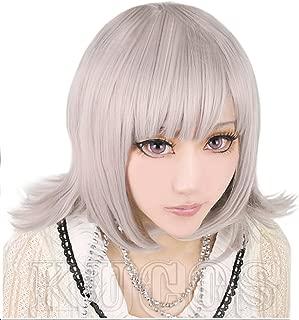 Cf-fashion Danganronpa Dangan-ronpa Sayonara Zetsubou Gakuen Nanami ChiaKi Cosplay Wig Hallowmas Short Wigs + Free Wig Cap