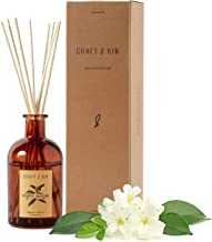 Reed Diffuser Sticks 'Orange Blossom & Lotus Scent' Set, includes 8 Rattan Scented Sticks Diffuser Reeds, All-Natural Esse...