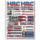 Stickers Decals Compatible Honda CBR RR HRC REPSOL Set 24X32 Cm