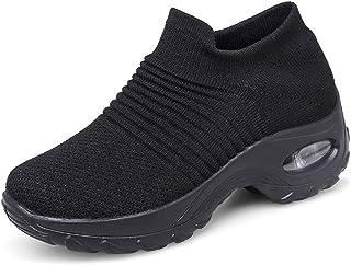 Zapatillas Deportivas de Mujer Gimnasio Zapatos Running Deportivos Fitness Correr Casual Ligero Comodos Respirable Negro G...