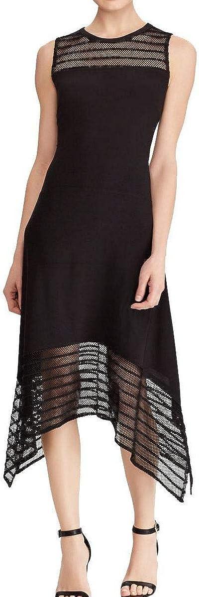 AMERICAN LIVING Women's Illusion Mesh Jersey Midi Sheath Dress