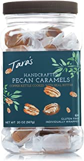 Tara's All Natural Handcrafted Gourmet Pecan Flavored Caramel: Small Batch, Kettle Cooked, Creamy & Individually Wrapped - 20 Ounce