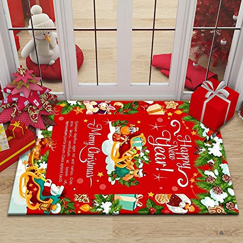 Gpink Christmas Series Carpet Home...