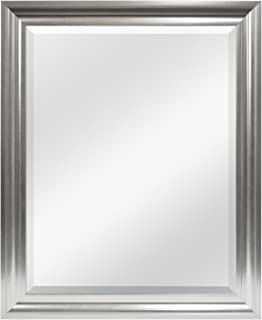 MCS Wall Mirror, 26.5 by 32.5-Inch, Brushed Silver
