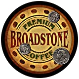 Broadstone name prominently featured Soft, Absorbent, & non-marring materials 4 Inches in diameter; One quarter inch thick Washable and reusable; Durable and Long Lasting Made and personalized in the USA! - 100% Satisfaction guarantee