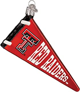 Old World Christmas Ornaments: Texas Tech Pennant Glass Blown Ornaments for Christmas Tree