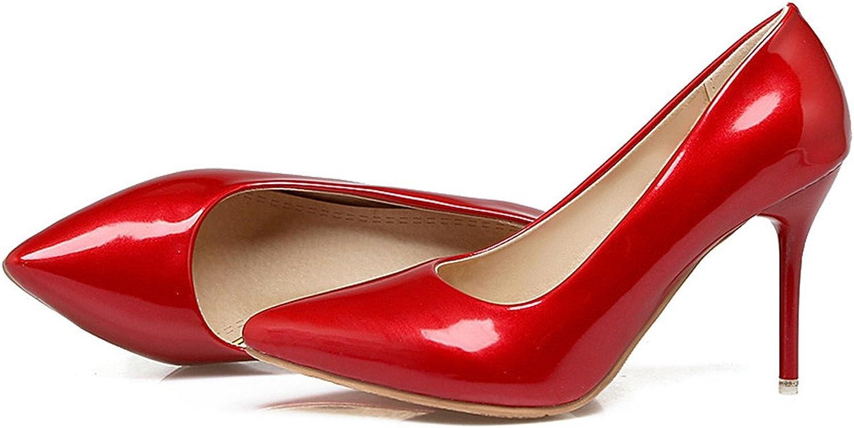 Gome-z Women Pumps Pointed Toe Ladies shoes Shallow Elegant Ladies shoes Thin Heel Super high Heels shoes Plus Size
