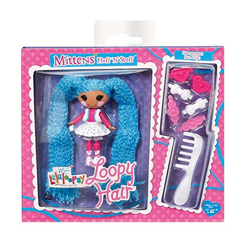 Mini Lalaloopsy - Loopy Hair - Mittens Fluff 'N' Stuff - Poupée à Coiffer 7,5 cm (Import Royaume-Uni)