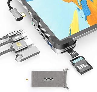 dodocool HUB USB C per iPad Pro 2020/2018, Adattatore HUB 6 in 1 con 4k HDMI, 100W PD, USB 3.0, Jack Audio 3.5 mm, SD/Micr...