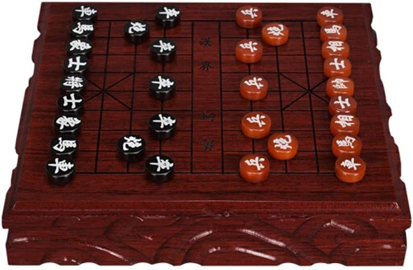 Chess Chinese Set Thick Acrylic Direct stock discount Max 45% OFF Pieces Mahogany Fold