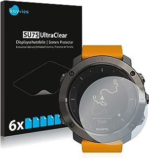 Savvies 6x Schermbeschermer compatibel met Suunto Traverse/Traverse Alpha Screenprotector ultra transparant