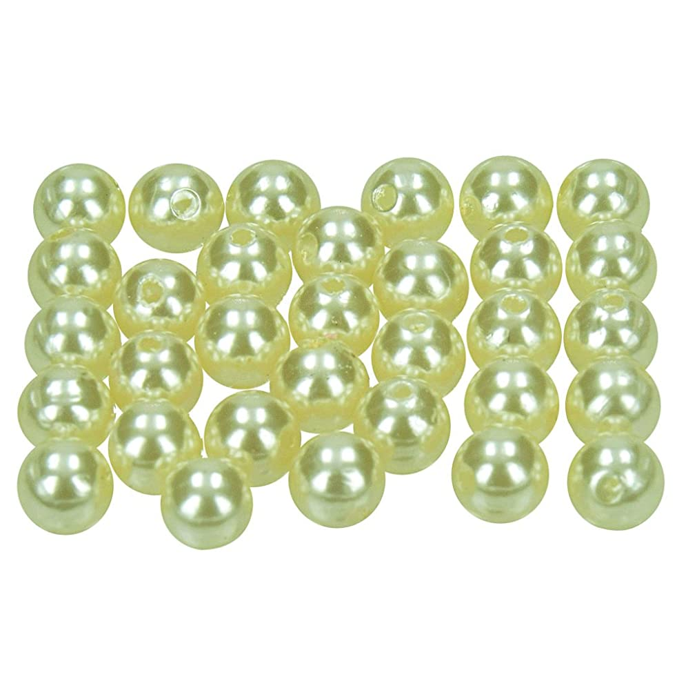 Efco Wax Beads, Plastic, Champagne, 8 mm Diameter, 32-Piece