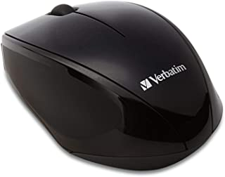 Verbatim Wireless Multi-Trac Mouse 2.4GHz with Nano Receiver - Ergonomic, Blue LED, Portable Mouse for Mac and Windows - B...