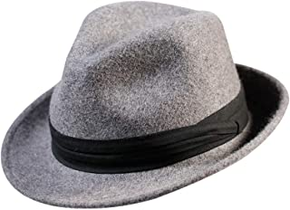 Wool Fedora Hat Men Felt Manhattan Trilby Women Gatsby Outfit Decorations