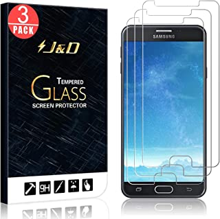 Compatible with Galaxy J7 2017 J727 Screen Protector, 2017 Release, SM-J727 3-Pack HD Tempered Glass Protective Film fit Samsung Galaxy J7 Prime // J7 V//Perx // J7 Halo // J7 Sky Pro Full Coverage
