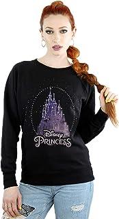 Disney Women's Princess Christmas Castle Sweatshirt Black Small