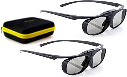 2X Hi-Shock RF Pro Black Heaven   3D Active Glasses for FullHD/HDR/4k EPSON Projector Powerlite Home Cinema 2000 2030 2040 2045 3000 3500 3600e 4030UB 5020 750HD   Rechargeable