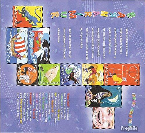 Danemark - Îles Féroé mer.-no.: 450-459 Feuille Miniature (complète.Edition.) 2003 pour Enfants (Timbres pour Les collectionneurs) Musique / Danse
