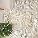 HOMESUNSHINE Macrame Lumbar Pillow Cover...