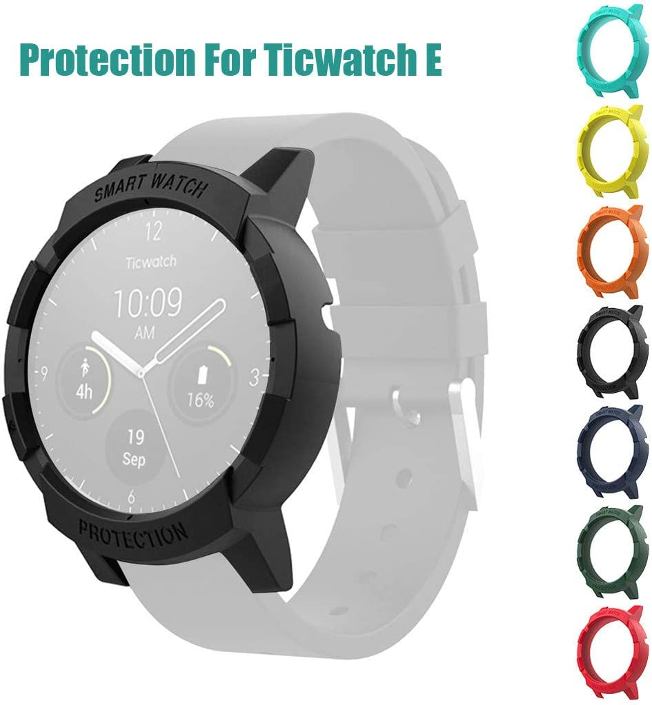 for Avoiding Scratch in Daily Life Eve.Ruan Fashion Design Ultra-Slim Case Cover PC Frame Protective for Ticwatch E Watch with Invisible Magnetic Closure Protective Bumper Case Cover