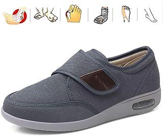 KRILY Chaussure Orthopédique Réglable Sandales Pied Large Chausson Fermeture Scratch pour Athrite Diabète Œdème Pieds Enfl...