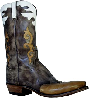 Men's Cowboy Boots 1883 N9516.54 Distressed Antique Brown Buffalo
