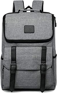 Multi Function Large Capacity Oxford Cloth Laptop Backpacks Water Resistant Outdoor Travel Hiking Backpacking Packs Anti Theft Carry on Bookbags for Men L-0921 (Color : Gray, Size : 43cm*30cm*14cm)