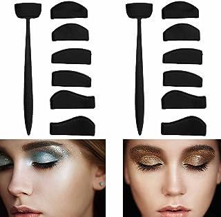 Crease Line Kit,Labato Eye Shadow Applicator,Silicone Eyeshadow Stamp Crease Tools Eyeshadow Molds Quick Eyes Makeup Tool ...
