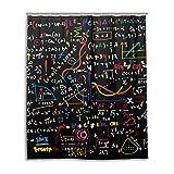 MyDaily Funny Math Doodle Duschvorhang, 152,4 x 182,9 cm, schimmelresistent und wasserfest, Polyester, Dekoration für das Badezimmer
