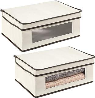 mDesign Juego de 2 cajas de almacenamiento – Organizador