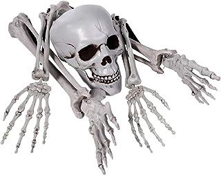 EXCEART Skeleton Bones Skull Plastic Spooky Fake Skeleton for Halloween Decor Props Graveyard Ground Decor Halloween Skele...