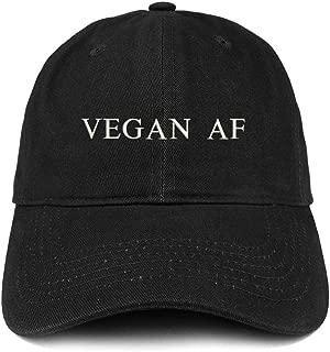 Vegan Af Embroidered Soft Crown 100% Brushed Cotton Cap