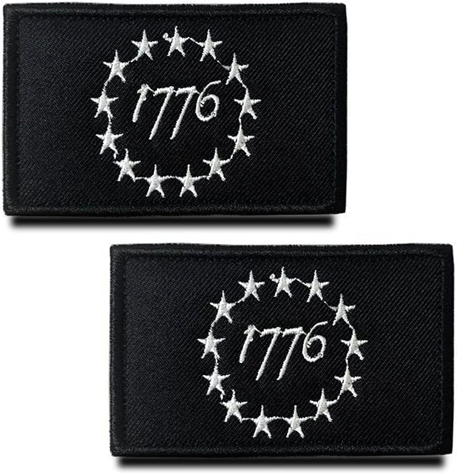 Zcketo 2 Pack Tactical 1776 Independence Patrio Louisville-Jefferson County Mall America Ranking TOP1 American
