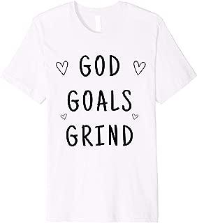 Inspirational Motivational God Goals Grind Christian Faith Premium T-Shirt