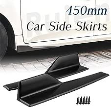 Ruien Car Side Skirts 450mm Black Winglets Diffusers Splitter Lip Universal Fit for Car