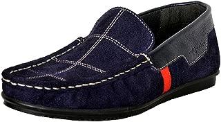 Mardi Gras Boys' Blue Leather Loafers