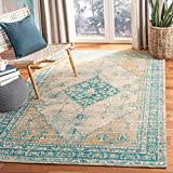 Safavieh Classic Vintage Collection CLV113J Area Rug, 8' x 10', Aqua