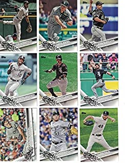 2012, 2013, 2014, 2015, 2016, 2017, 2018 Topps Baseball Card Team Sets (Complete Series 1 & 2 From All 7 Years) 150+ Chicago White Sox inc. Adam Eaton, Austin Jackson,Chris Sale, Carson Fulmer Jose Abreu, in 7 acrylic cases