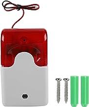 Candeon Wired Strobe Siren -12V Wired Strobe Siren Sound Alarm Strobe Red Light Sound Siren Home Security Alarm System