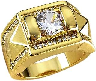 Ahappy-Claw Setting الزركون الهيب هوب خاتم رجالي زفاف خاتم الخطوبة R245