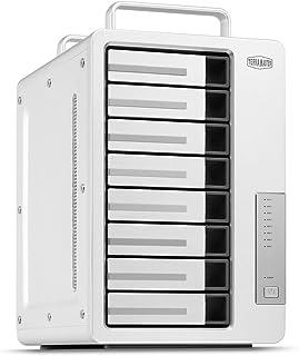 TerraMaster D8 Thunderbolt3ストレージ 超高速 ビデオ編集 デイジーチェーン対応 8ベイRAIDストレージ Type-C RAID 0/RAID1/RAID5/RAID10(HDD付属なし)