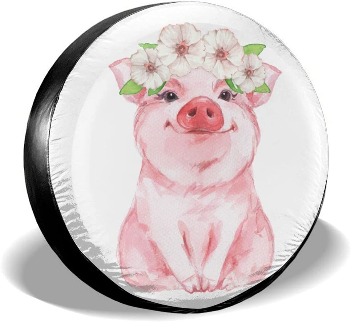 Inrubie Funny Pig Wearing Wreath Spare Tire 15 14 16 17 In Cover ...
