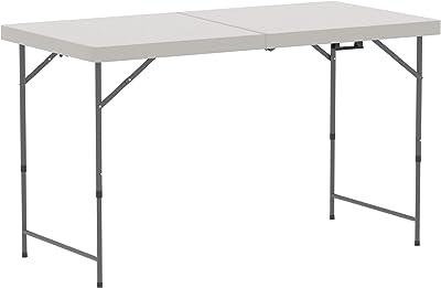 Amazon Basics - Heavy Duty plegable de picnic de caballete de mesa plata, 4pies