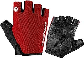 Red Cycling Gloves, M : ROCKBROS Bicicleta Luvas Das Mulheres Dos Homens de Esportes Ao Ar Livre Ciclismo Esportes Luvas R...