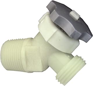 LASCO 40-0911 Plastic Water Heater Drain Valve with 5/8-Inch Shank 3/4-Inch Male Pipe