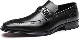 Men's Dress Shoes Geniune Leather Classic Formal Oxford for Men Loafer Slip-on Burgundy/Black/Brown
