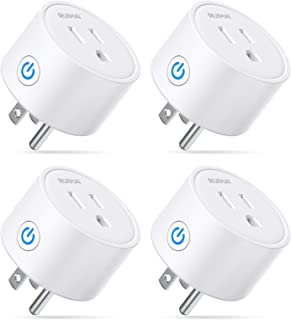 Ruihai Smart Plugs Wi-Fi Outlet Compatible with Alexa/Echo & Google Home/Smart Life, Timer ON/Off Plug, Schedule Built-in App, Mini Wireless Socket, No Hub Required, Only WiFi 2.4G (4pcak)