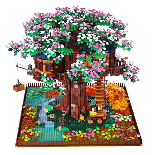 PEXL Bausteine Bausatz, Baustein-Erweiterungskit Kompatibel mit Lego Baumhaus 21318 (Ohne Lego Set)