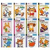 BLOUR 12 unids/Set Kumon Let's Cut Paper Primeros Pasos Libros de Trabajo Libros de imágenes para niños Origami Papel Cortado Pegatina Libros Hechos a Mano